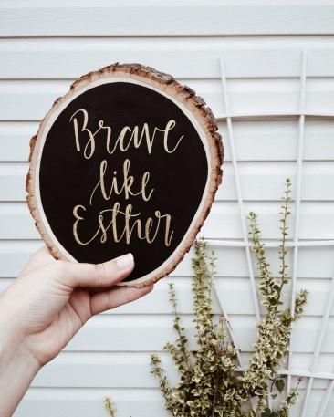 Brave on wood