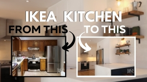 Before and After IKEA Kitchen